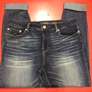 Indigo Rein Crop Mid Rise Jean